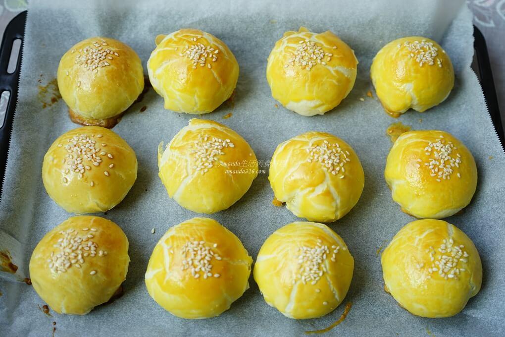 中秋,動手做,烏豆沙,蛋黃酥,蛋黃酥作法,蛋黃酥做法,酥皮蛋黃酥,鹹蛋黃
