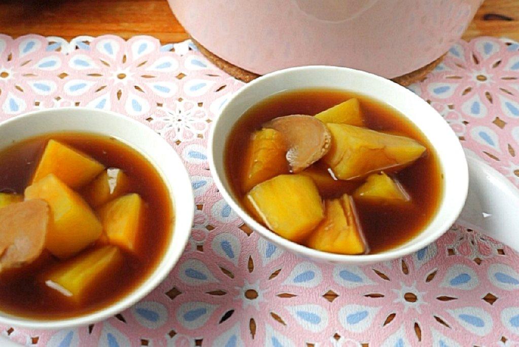 地瓜薑湯,地瓜黑糖薑,薑湯,薑湯料理,黑糖地瓜薑湯,黑糖薑湯 @Amanda生活美食料理