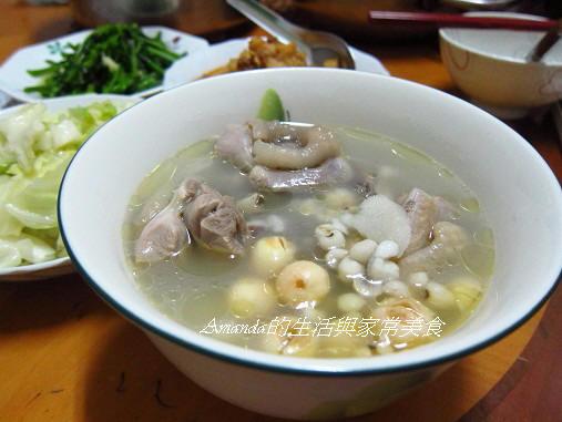 四神湯,薏仁,雞湯 @Amanda生活美食料理