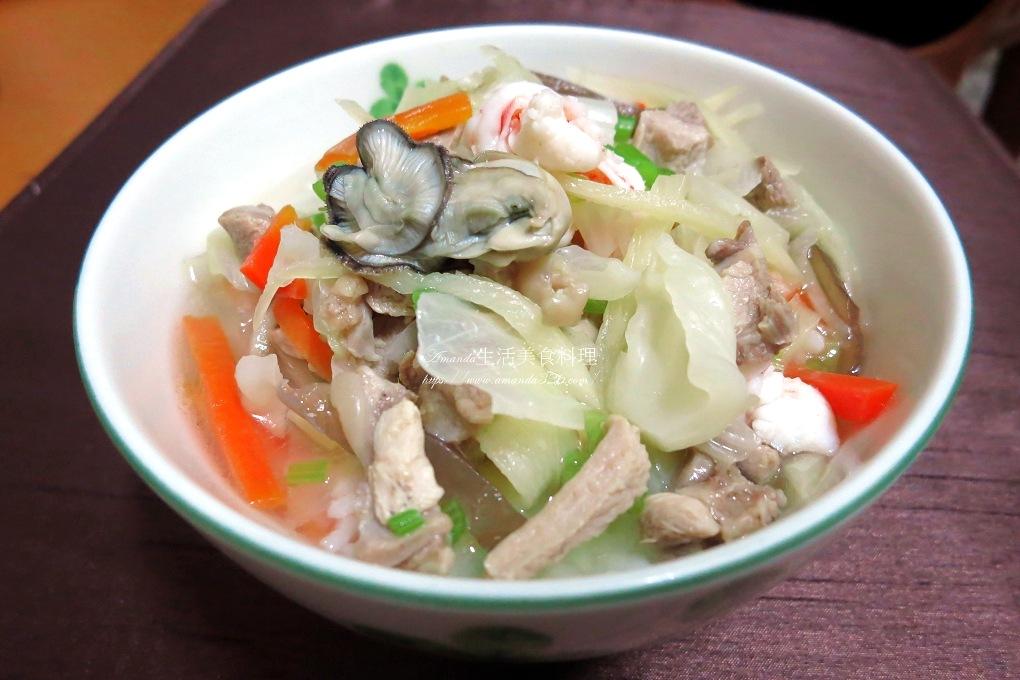 屏東飯湯-湯泡飯 -竹筍去殼切絲  影音