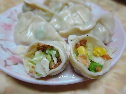 蔬菜杏菇餃-素水餃