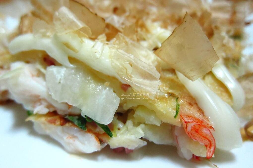海鮮,海鮮煎餅,煎餅,蔬猜煎餅,蝦仁煎餅,高麗菜 煎餅,高麗菜海鮮煎餅,高麗菜煎餅,高麗菜餅,鮮蝦