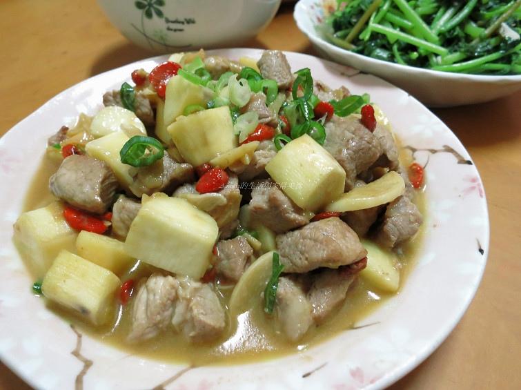山藥,枸杞,炒山藥枸杞,豬肉,養生 @Amanda生活美食料理
