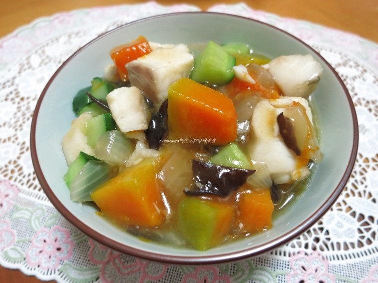 鯛魚燴南瓜-養生燴飯