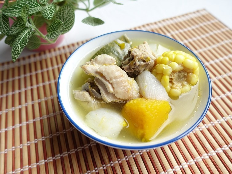 南瓜湯,山藥湯,雞湯,養生湯 @Amanda生活美食料理
