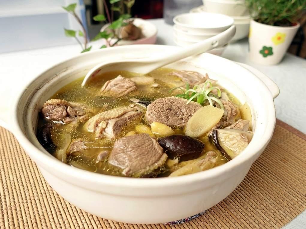 煲湯,白果,白果燉鴨,薑母鴨,香菇鴨,香菇鴨肉湯,鴨湯,鴨肉湯 @Amanda生活美食料理