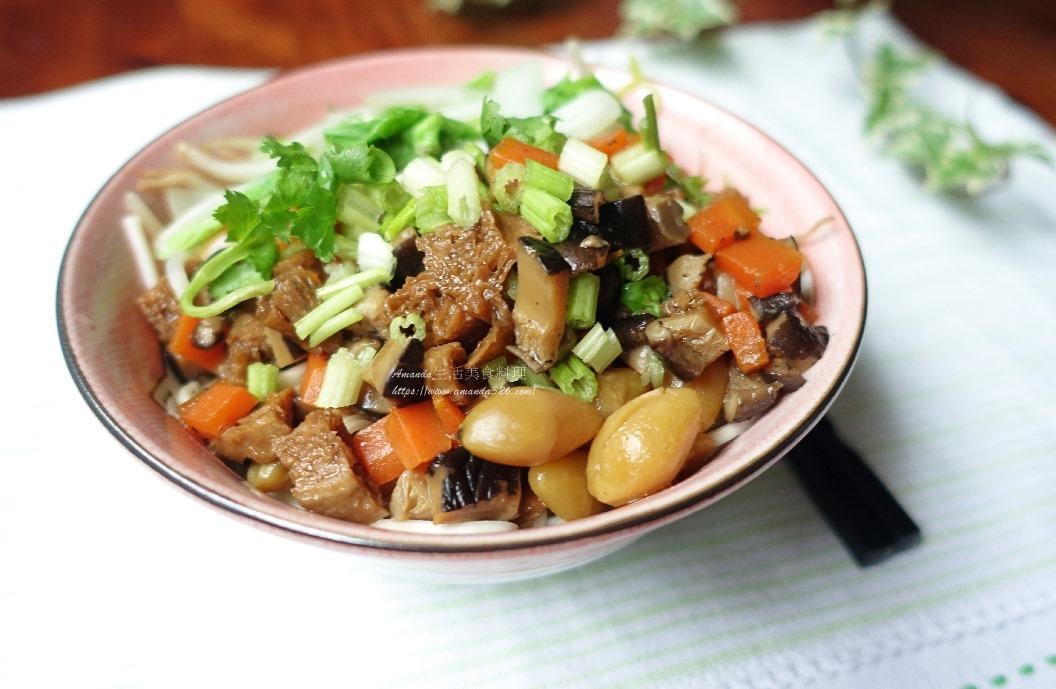 拌麵,白果,素燒醬,素肉醬,素食,素食燒醬,蔬食,香菇素醬,香菇醬 @Amanda生活美食料理