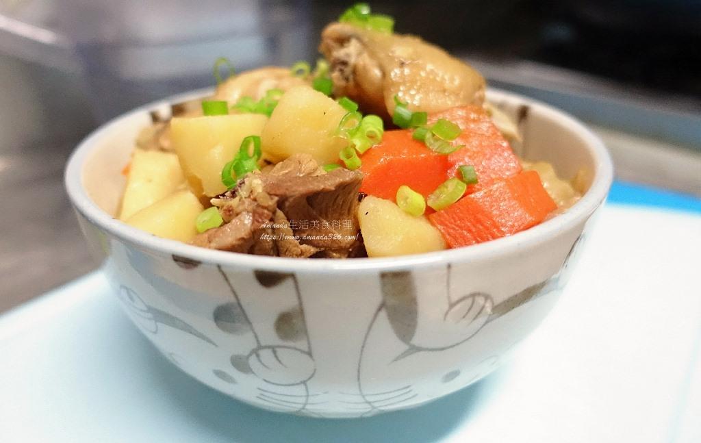 乾燒雞肉,燉雞,燴飯,雞肉料理,馬鈴薯,馬鈴薯料理,馬鈴薯燉雞,馬鈴薯燒雞 @Amanda生活美食料理