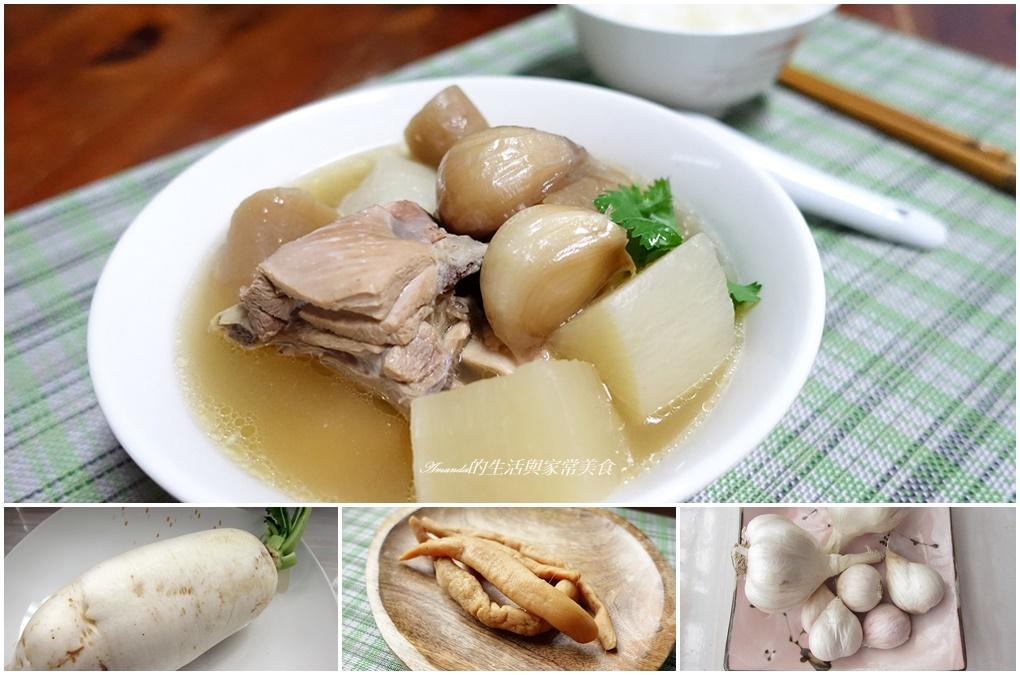 炸蒜頭,老蘿蔔,蒜頭雞,蘿蔔乾,蘿蔔湯,雞湯 @Amanda生活美食料理