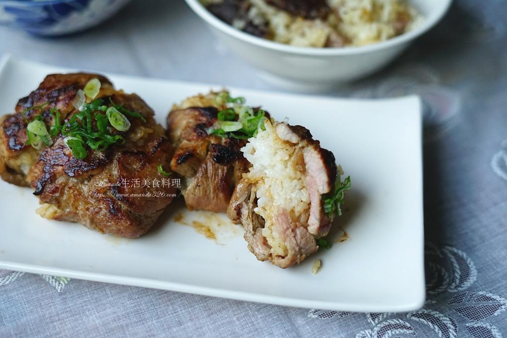 便當,冷飯,午餐,早餐,煎肉,燒肉,燒肉飯糰,燒肉飯糰做法,白飯,米飯,肉排,肉片,飯糰