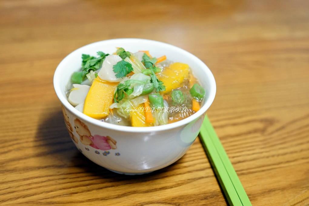 彩蔬蠔油粉絲-無油煙美味蔬食