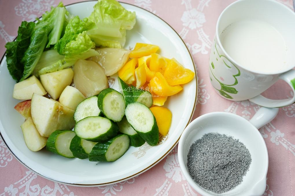 小黃瓜,甜椒,綠拿鐵,芝麻飲,蔬果汁,蔬果飲,蘿美,蘿蔓,黃金果