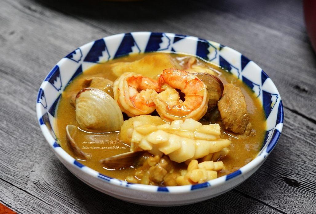 咖哩,海鮮,燴飯,豬肉 @Amanda生活美食料理