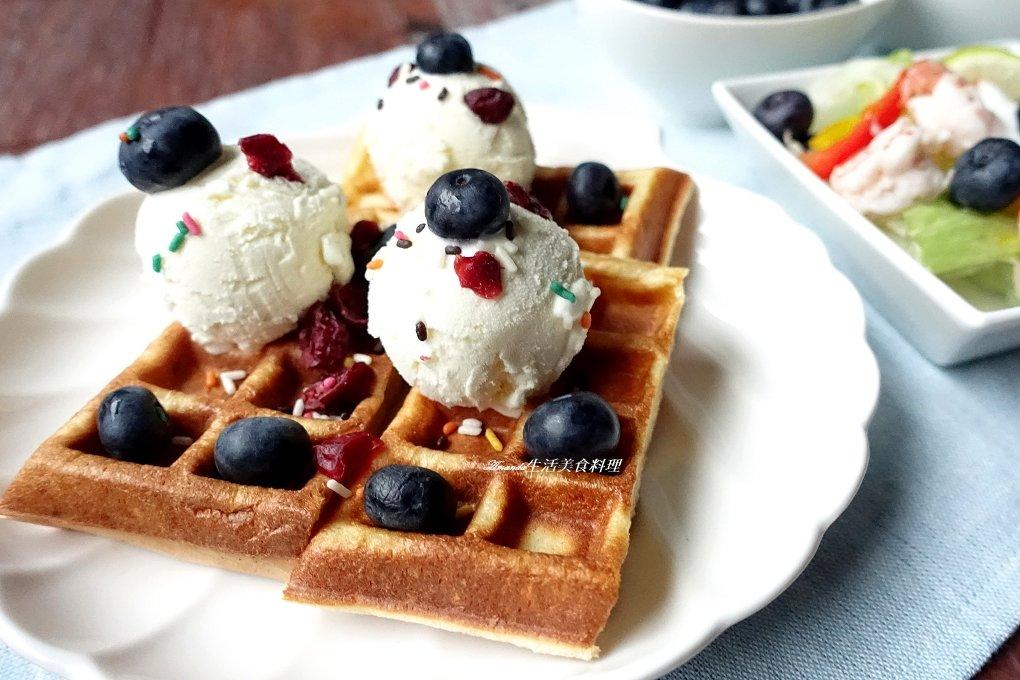 冰淇淋,冰淇淋鬆餅,無香精,素食,藍莓鬆餅,鬆餅,鬆餅 冰淇淋,鬆餅冰淇淋,鬆餅麵糊 @Amanda生活美食料理