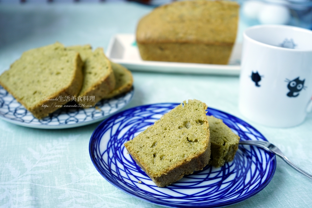 抹茶磅蛋糕-減油少糖-非傳統配方