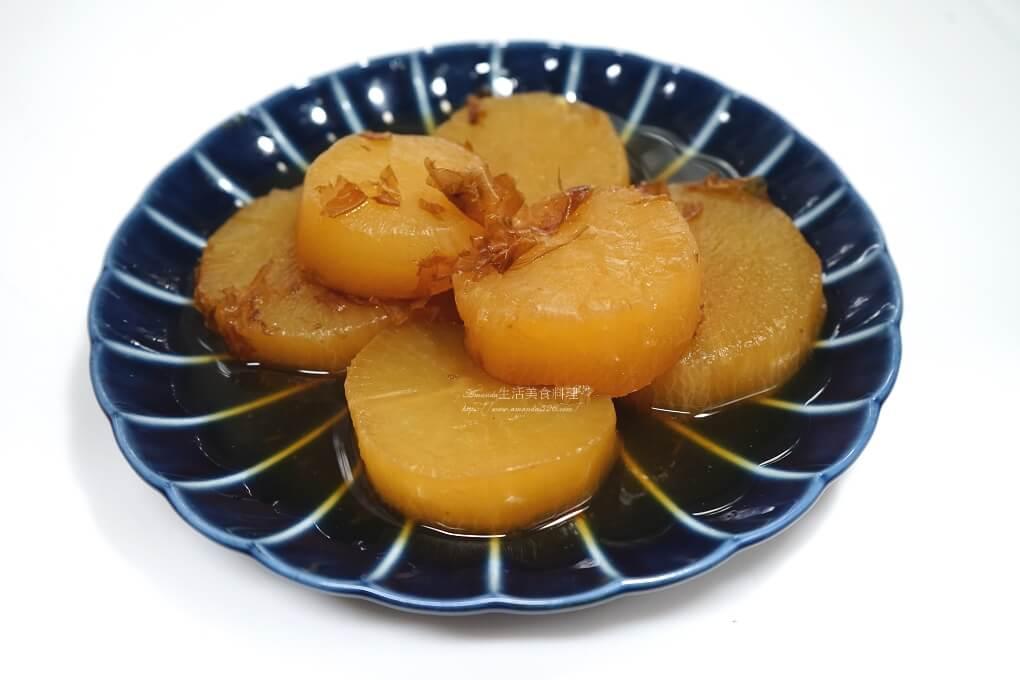 柴魚醬滷白蘿蔔-蘿蔔去辛辣