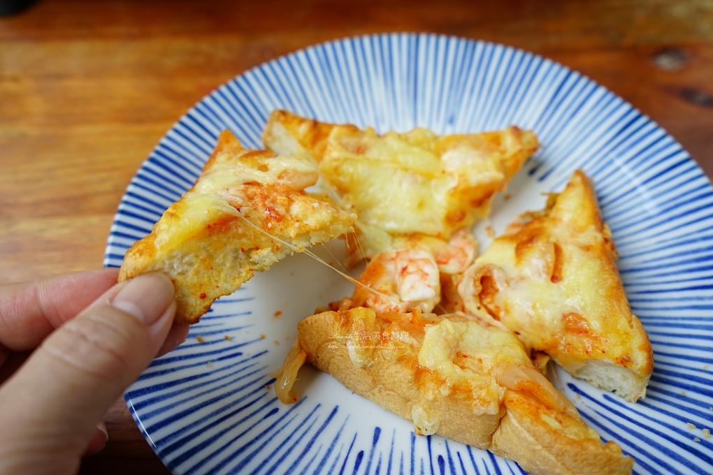 吐司,披薩,早午餐,早餐,泡菜,海鮮,焗烤,焗烤吐司,焗烤土司