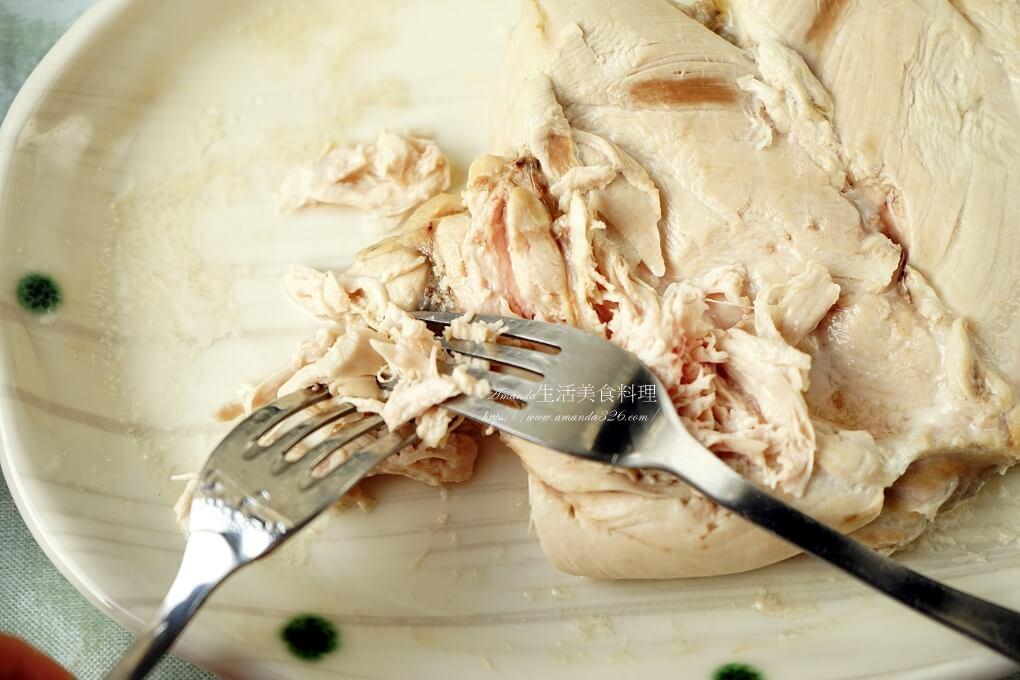和風醬,拌雞絲,波菜,涼拌,涼拌雞絲,素食,蒸雞胸肉,雞絲不柴,雞絲料理,雞胸肉不柴