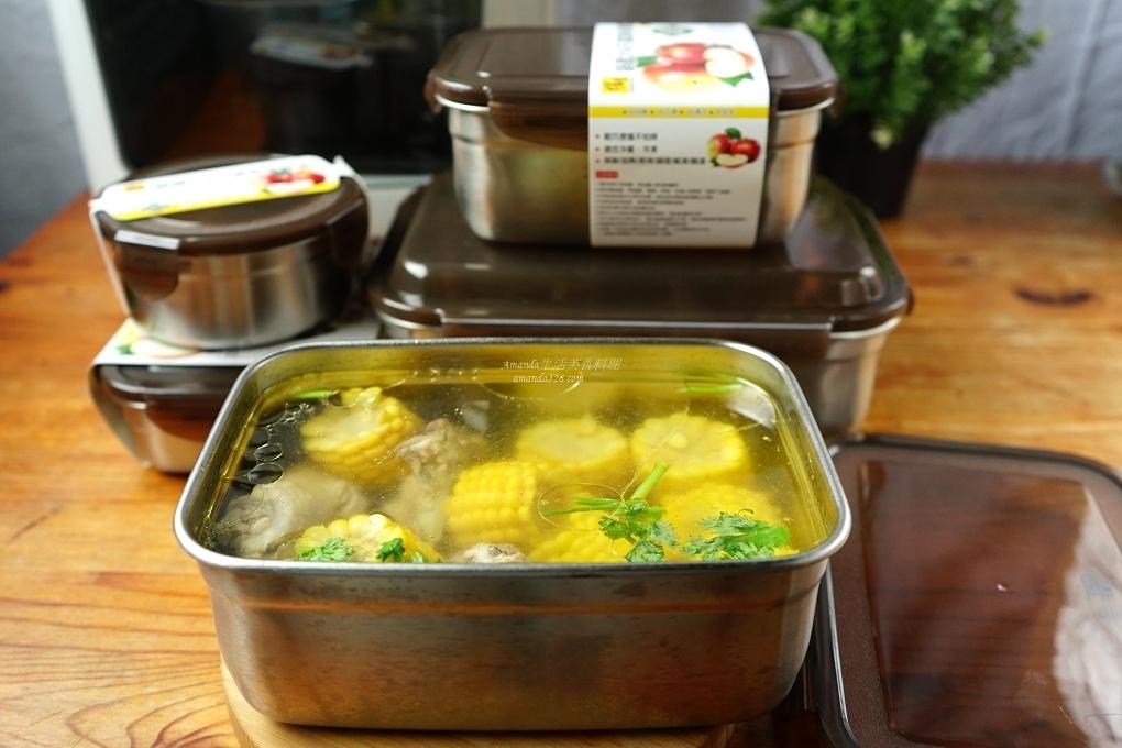 不鏽鋼保鮮盒,排骨湯,排骨玉米湯,玉米湯 @Amanda生活美食料理