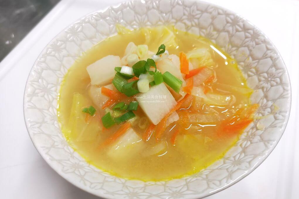 味噌湯,山藥味噌湯,山藥蔬菜湯,山藥豆腐湯,素食味噌湯,素食蔬菜味噌湯,蔬菜湯,蔬食 @Amanda生活美食料理