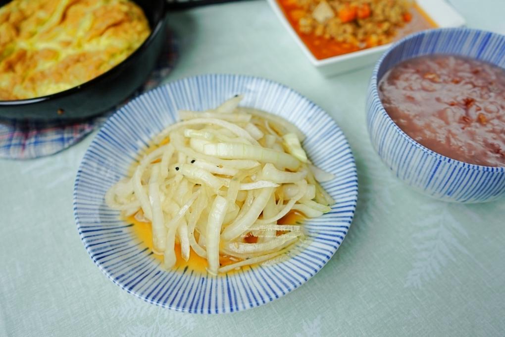 洋蔥,涼拌,清粥,粥,胭脂稻,胭脂米,胭脂米花蓮