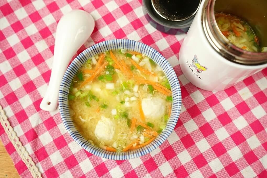 悶燒罐料理-味增魚丸蛋花湯