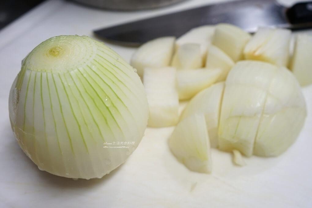低壓鍋,備用菜,悶煮鍋,洋蔥,洋蔥燉肉,洋蔥燒肉,燒肉