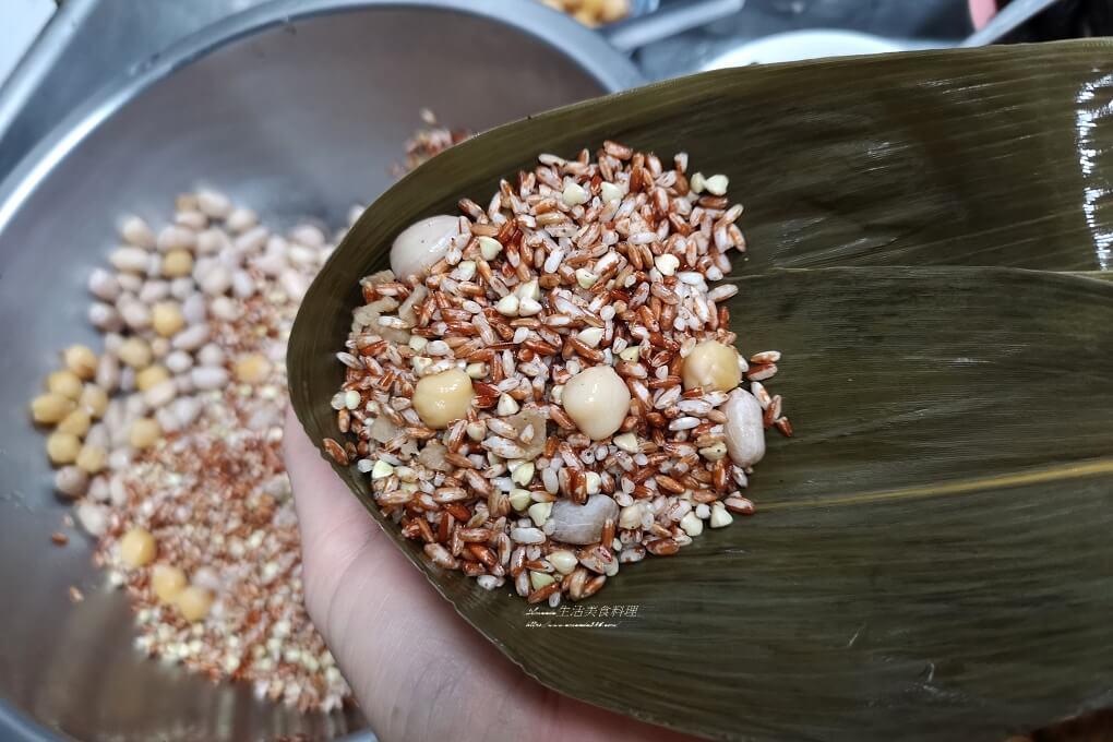 五穀粽,健康粽,南部粽,水煮粽,素粽,素食粽,胭脂稻,胭脂米,花生粽高纖粽,養生粽