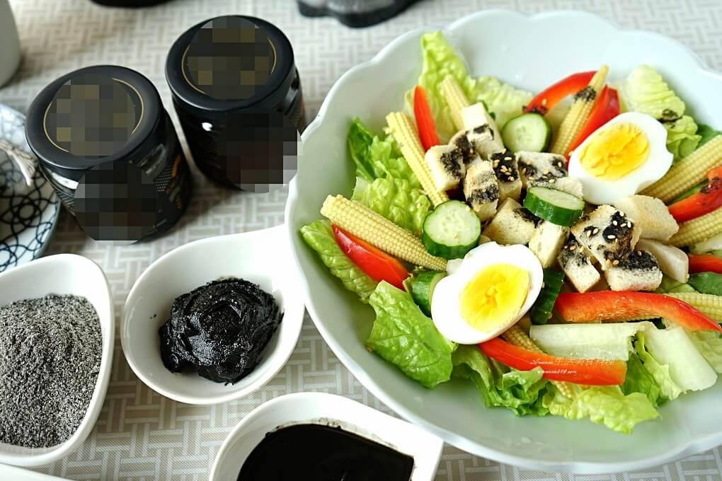 夏日輕食低醣料理-鮮蔬沙拉佐芝麻醬