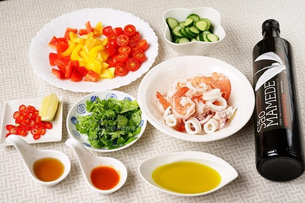 油醋醬,海鮮,涼拌,涼拌海鮮,酸辣