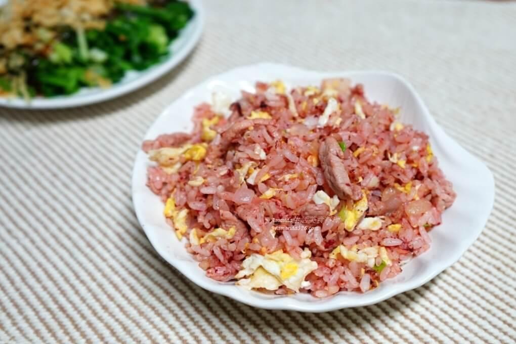 炒飯,紅糟,紅糟炒飯,肉絲炒飯,蛋炒飯,馬祖紅糟