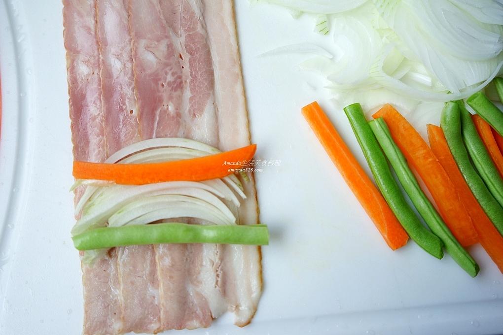 培根捲,氣炸肉捲,氣炸蔬菜,氣炸鍋,氣炸鍋料理,氣炸鍋料理懶人包,氣炸鍋食譜,蔬菜捲,蔬菜肉捲