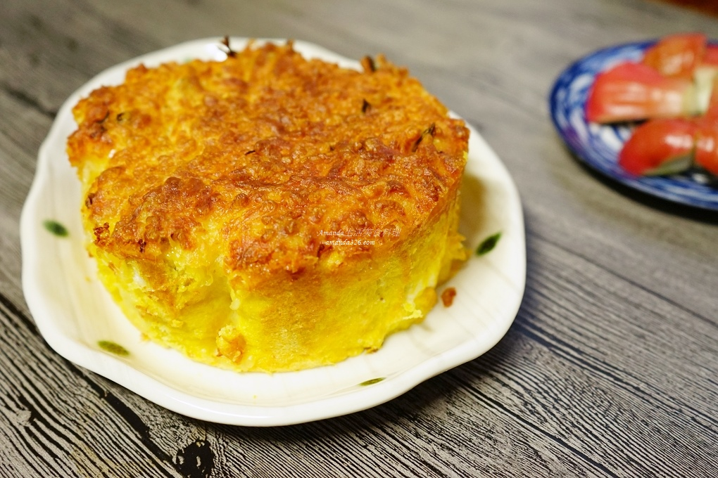 吐司肉蛋糕,吐司蛋糕,氣炸料理,氣炸鍋,氣炸鍋料理,氣炸食譜,焗烤,焗烤蛋糕,肉蛋糕,鹹蛋糕