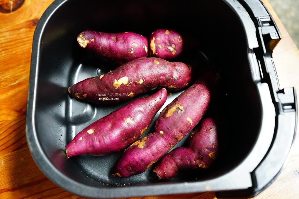 57號地瓜,栗子地瓜,栗子地瓜料理,氣炸料理,氣炸栗子地瓜,氣炸鍋,烤地瓜,紫皮栗子地瓜