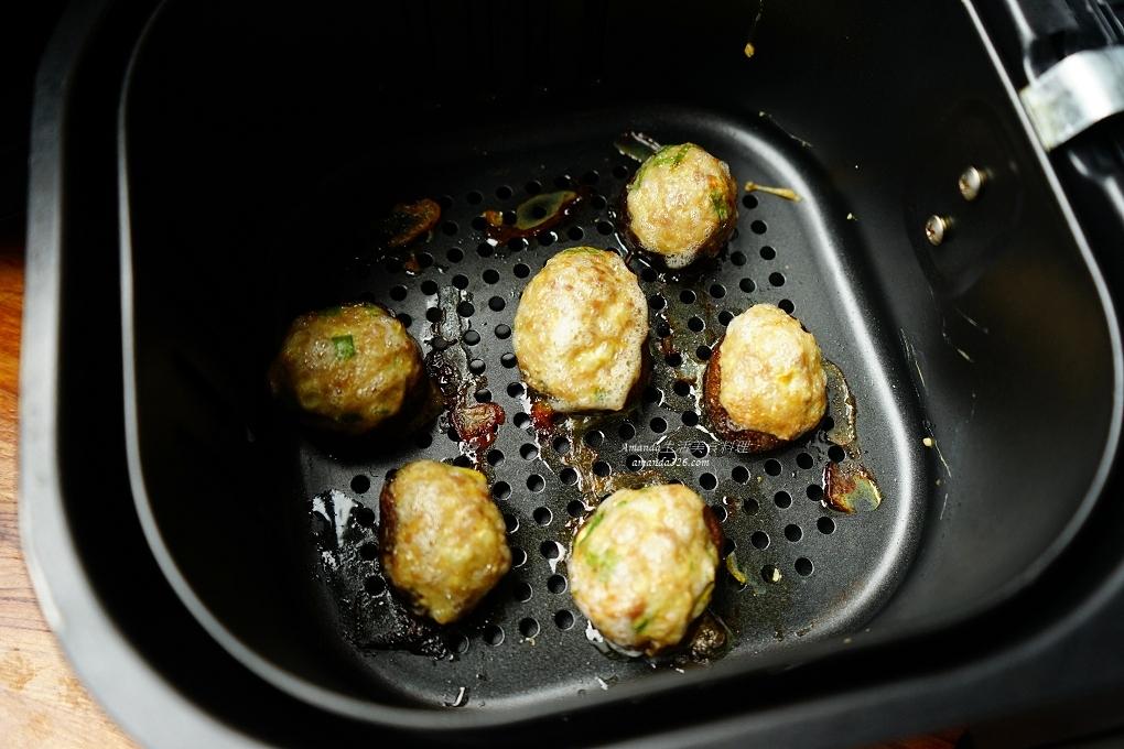 便當菜,氣炸料理,氣炸食譜,絞肉料理,菌菇鑲肉,豬絞肉,豬肉,香菇鑲肉