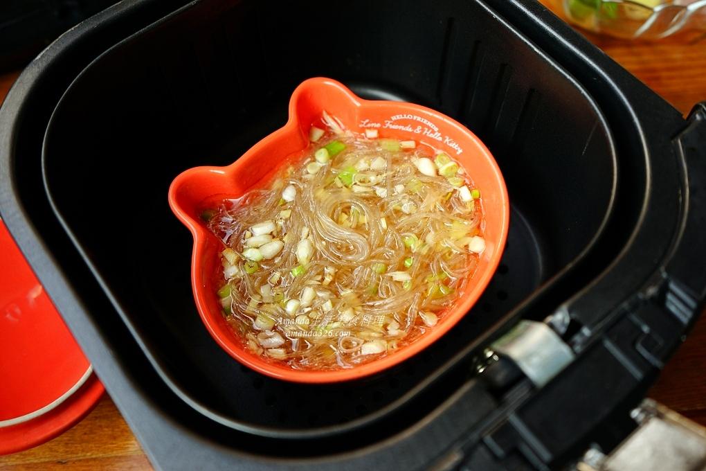便當菜,氣炸料理,氣炸食譜,烤蝦,粉絲,粉絲煲,鮮蝦,鮮蝦粉絲煲