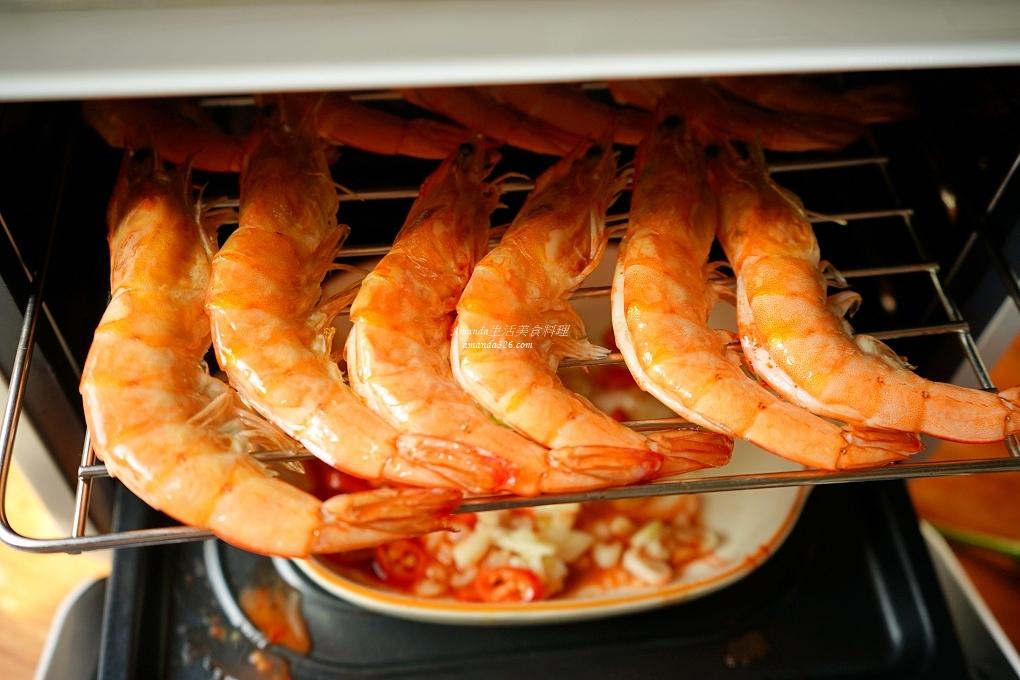 氣炸烤箱,海鮮,無油煙,自己煮,鮮蝦,鹹酥蝦