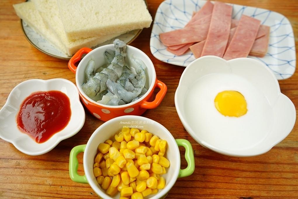 吐司捲,早午餐,早餐,氣炸烘焙,氣炸鍋,玉米捲,蝦捲,起司捲