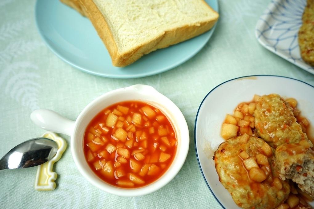 低脂漢堡肉,氣炸料理,氣炸漢堡,氣炸鍋,氣炸食譜,漢堡肉,茄汁,茄汁漢堡,茄汁蘋果
