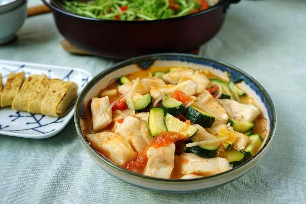 台灣鯛,櫛瓜,茄汁料理,茄汁鮮魚,魚去腥,鯛魚 @Amanda生活美食料理