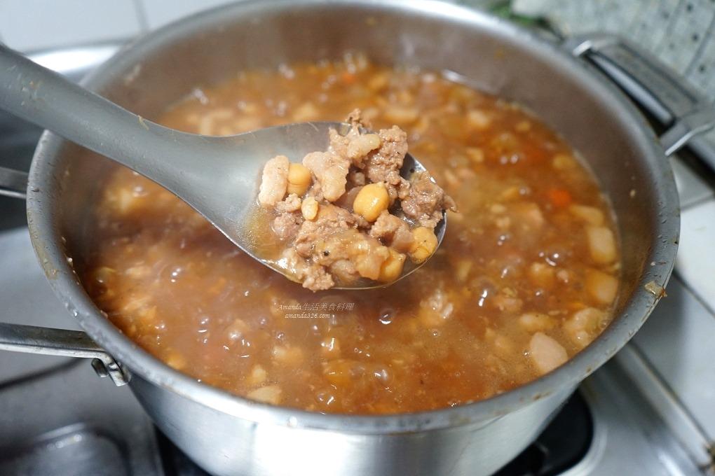 常備菜,滷肉飯,絞肉料理,肉燥,雪蓮子,雪蓮子怎麼煮,雪蓮子料理,雪蓮子煮法