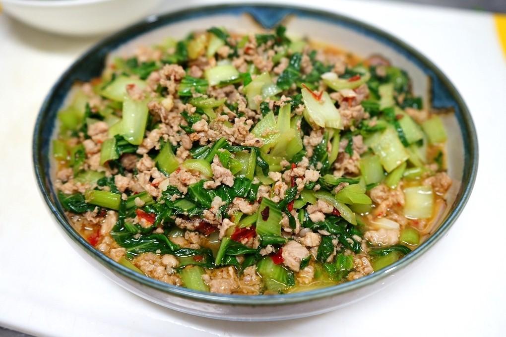 豆瓣青江炒肉末-適合多款蔬菜