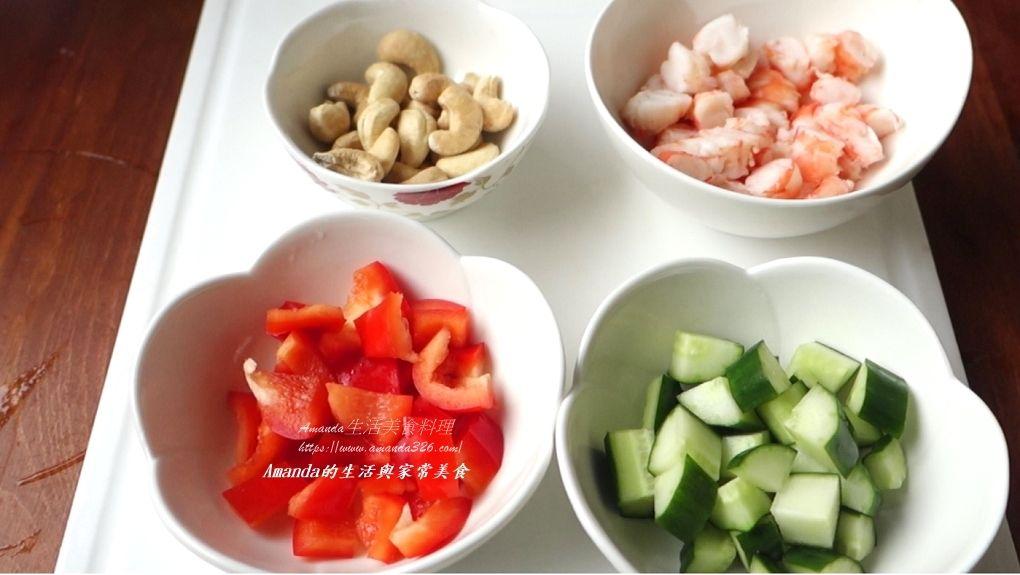 創意料理,油飯料理,生菜料理,生菜蝦鬆,生菜鮮蝦,生菜鮮蝦粽,粽子創意料理,粽子料理,蝦仁,蝦料理